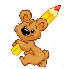 imagenes animadas oso dibujos animados de oso lápiz fotos de stock efengai 114681530