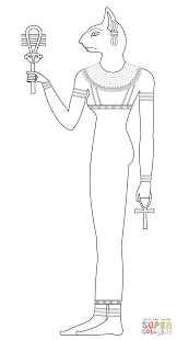 bastet coloring page free printable coloring pages