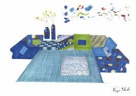 kenzo takada debuts latest design for iconic mah jong sofa