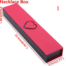 necklace gift case images Red cardboard ring bracelet necklace charm gift case jewelry box jpg