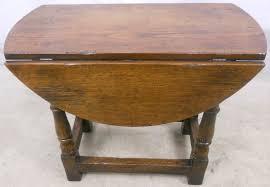 Drop Leaf Oak Table Antique Style Dark Oak Oval Dropleaf Coffee Table Sold