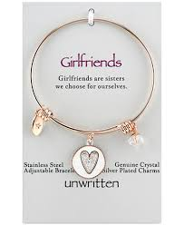 gold bracelet with heart charms images Unwritten two tone girlfriends heart charm bangle bracelet in rose tif