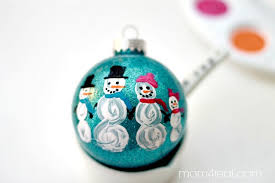 snowman family ornament