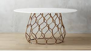 cb2 round dining table circuit dining table reviews cb2