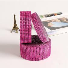 where to buy wedding supplies aliexpress buy 10 yards a roll hot pink plastic rhinestone
