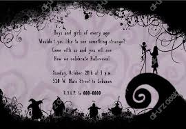 nightmare before christmas wedding invitations nightmare before christmas birthday invitations plumegiant