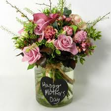 online florists mothers day ideas bouquet in glass vase by