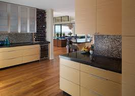 Wine Rack In Kitchen Cabinet Fancy Kitchen Wine Bars Features Rectangle Shape White Wooden