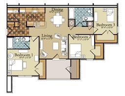 4 Bedroom Apartment Floor Plans Extraordinary 20 3 Bedroom Apartments Plan Design Ideas Of Best