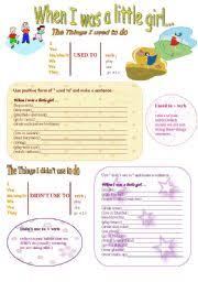 intermediate esl worksheets used to didn t use to