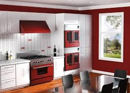 custom bluestar appliances in wine red cooking with color