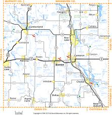 Map Wisconsin Barron County Wisconsin Map