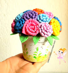 flores de foamy manualidades flores de fomi cositasconmesh