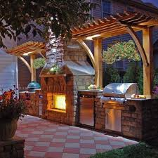 outdoor patio kitchen ideas top outdoor kitchen fireplace with best 25 outdoor kitchens ideas