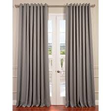 Double Wide Grommet Curtain Panels Exclusive Fabrics U0026 Furnishings Semi Opaque Neutral Grey Grommet