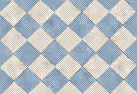 ceramic floor tile tiles of blue cubes and squares stock photo
