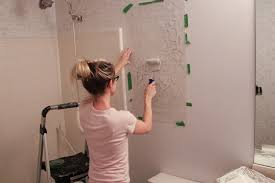 Colors For Bathroom Walls Bathroom Makeover Stenciled Walls Plus A Giveaway Erin Spain
