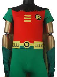 Halloween Robin Costume Comics Teen Titans Superhero Robin Suit Cosplay