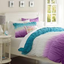 Best 25 Teen Comforters Ideas by Surf Dip Dye Ruched Duvet Cover Sham Pbteen Regarding Contemporary
