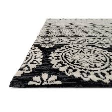 Black And White Floor Rug Magnolia Home Lotus Rug Floral Shades Of Light