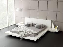 White Platform Bed Frame Mattress Design King Bed Frame Design Solid Wood Platform Bed