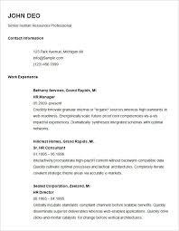 create a simple resume basic resume template pdf