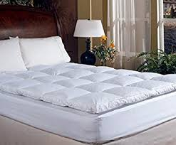 queen bed pillows amazon com overstuffed queen size feather bed pillow top mattress