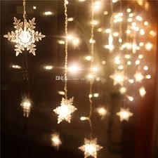 cheap 4m 120 led 20p snowflake curtain string lights bar