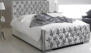 double bed crushed velvet double bed 4ft 6in