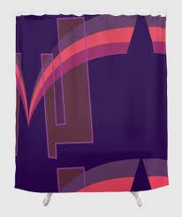 Dark Pink Shower Curtain by The Fearless Shower Curtain Grace Jones Purple Pink U2013 Far From