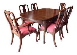 drexel dining room chairs henkel harris queen anne style dining set 8999