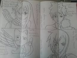 fairy tail characters half and half by incastarr on deviantart