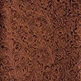 Buy Leather Fabric For Upholstery Amazon Com Black Western Embossed Floral Faux Leather Vinyl