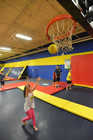 indoor trampoline basketball hoops sky high sports