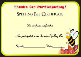fun certificate templates spelling bee invitation template the best bee of 2018