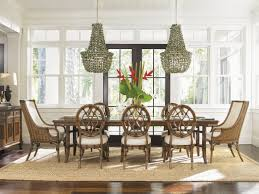 tommy bahama tropical dining room seating for eight coastalchic