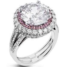 simon g engagement rings simon g 18k large center halo engagement ring