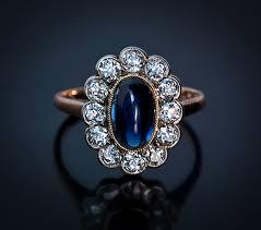 antique blue sapphire engagement rings wedding promise diamond