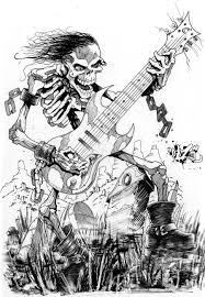 skull guitar 3 by cazitena on deviantart