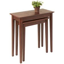 side table set of 2 shaker nesting side tables narrow end tables manchesterwood com