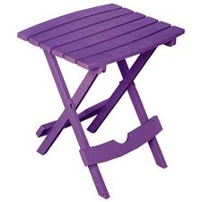 Patio Side Tables Patio Side Table Quik Fold Resin Bright Violet Model 8500 12