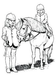 riding horse animal coloring pages race images race