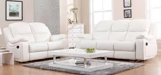 elegant white leather recliner sofa set unique white leather