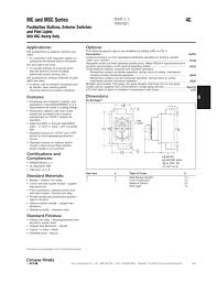motor rated switch with pilot light 4c mc and mcc series pushbutton stations selector switches and