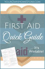 a printable first aid skills quick guide your own home store