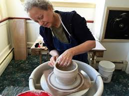 throwing a pot dirty bird comes to boothbay harbor boothbay register