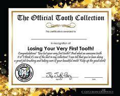 tooth fairy certificate template fairytale pinterest
