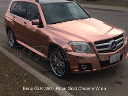 chrome benz mercedes benz rose gold chrome wrap wrap district