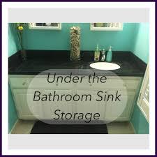 under the bathroom sink storage youtube