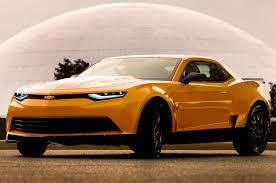 2014 orange camaro revealed bumblebee as 2014 camaro concept for transformers 4